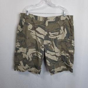 Wrangler Mens Camo Cargo Shorts 40 Green